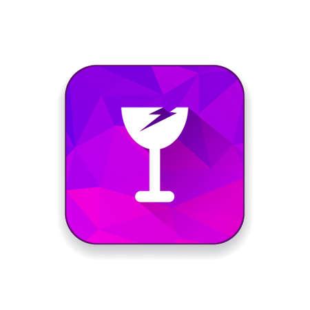 broken glass: broken glass icon Illustration