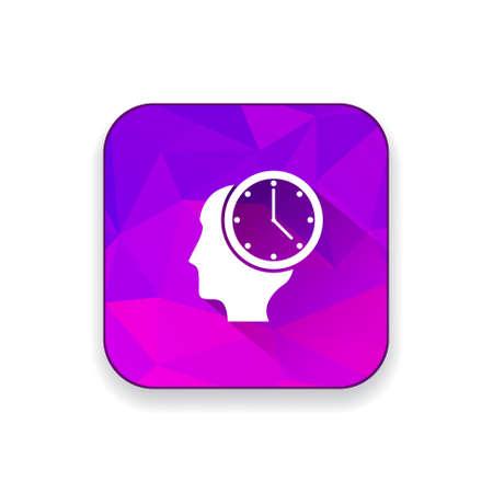 milestones: milestones clock icon Illustration