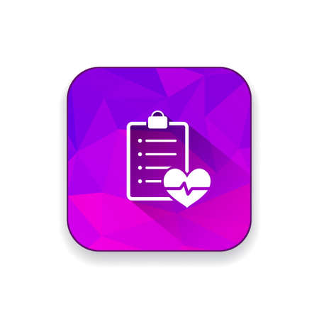 sine wave: cardiology  report    icon Illustration