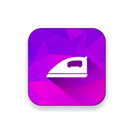 laundry care: ironing clothes   icon Illustration