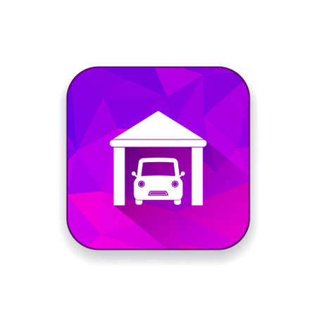 villas: house parking  icon Illustration