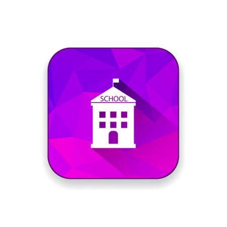 silhouette maison: bâtiment de l'école icône