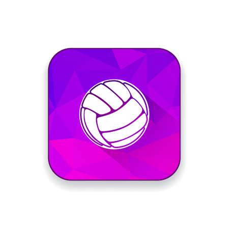 pelota de voley: icono de voleibol Vectores