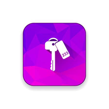 콘도: room key icon 일러스트