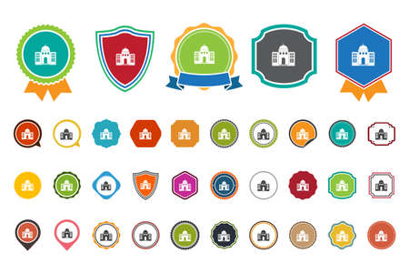 government: government building  icon Illustration