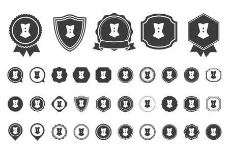 lace bra: corset  icon