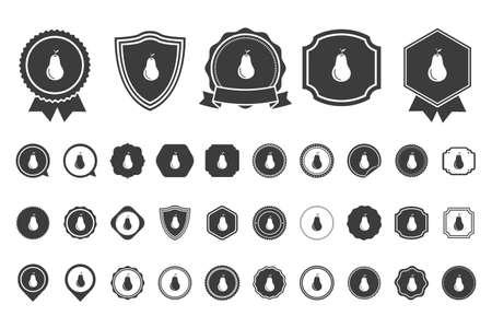gruszka ikona Ilustracje wektorowe