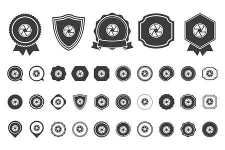 camera shutter: camera shutter icon Illustration
