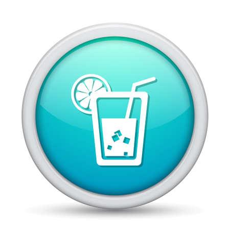 lemon juice: lemon juice  icon Illustration
