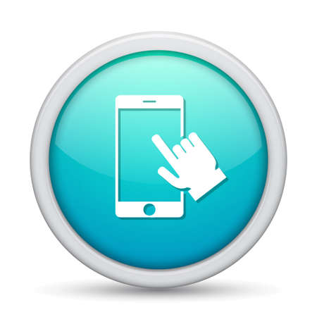 touch: tablet touch icon Illustration