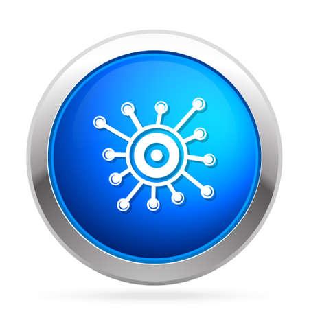 Virology  icon Stock Illustratie