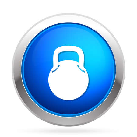 Bodybuilding weight icon Stock Vector - 81197399