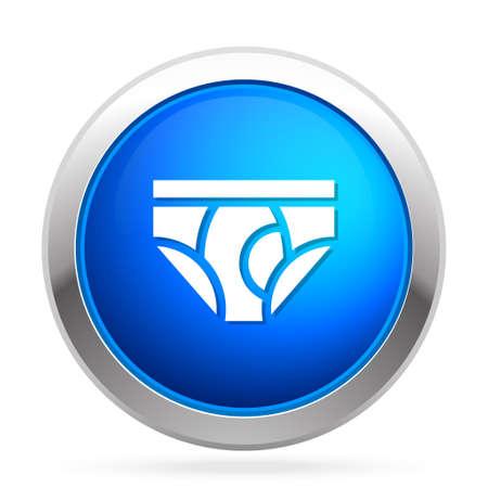 Sous-vêtements icône Banque d'images - 81206890