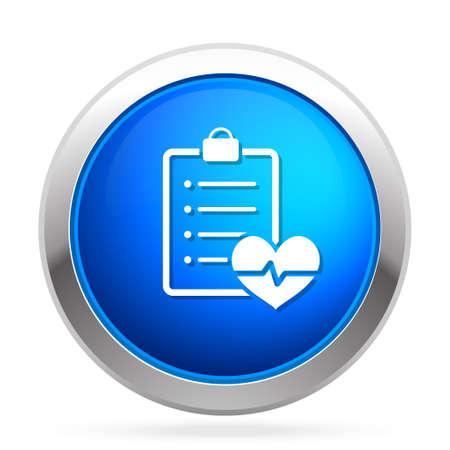 cardiologie rapport icoon Stock Illustratie
