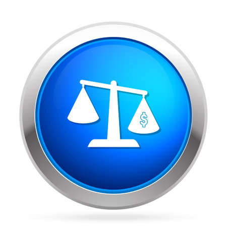 justice scale: dollar scale  icon