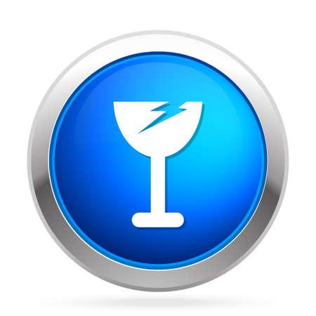 broken glass icon Illustration