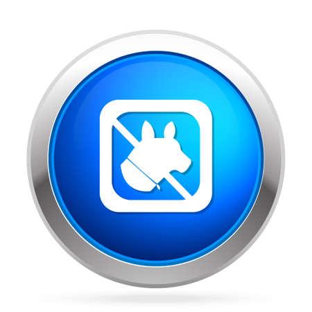 Pas d'animaux icône Banque d'images - 81207185