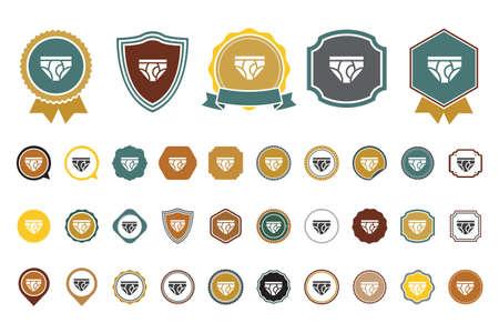vector underwear  icon Banque d'images - 100909872