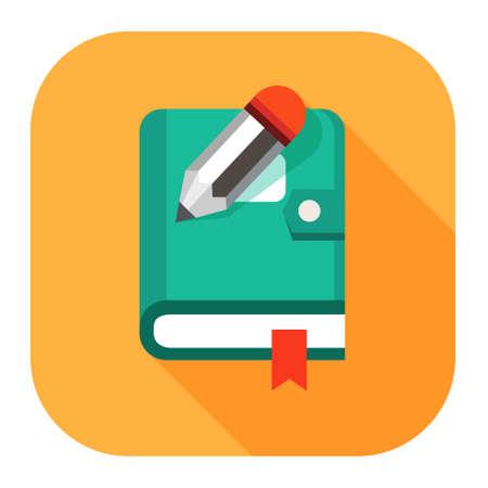 Icono de libro organizador planificador