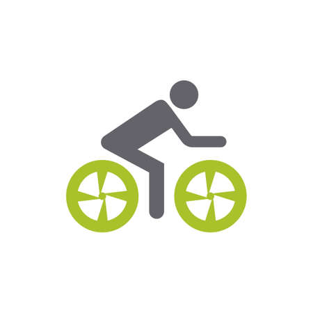 riding bike icon - sports bicycle