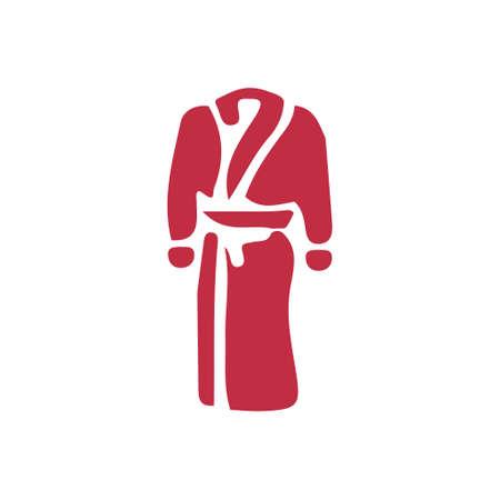 vector bathrobes icon