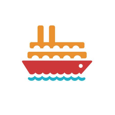 vector ship icon Иллюстрация