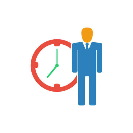 time management icon Иллюстрация