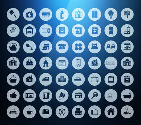 Collection Real estate, House Building and Home appliances icons