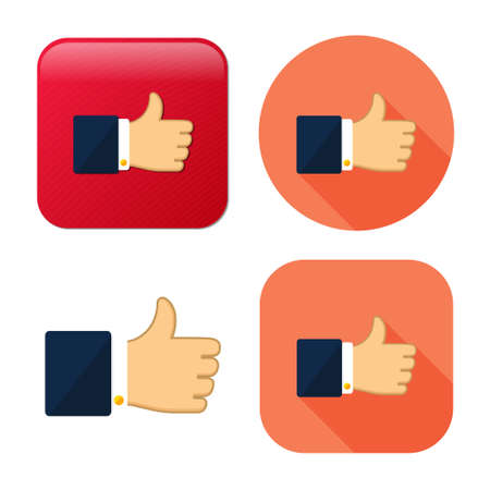 like icon - communication icon - hand thumb up - success symbol - vote icon - confirm sign Иллюстрация