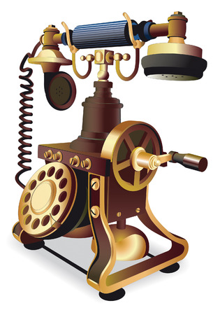 vectorial image of vintage telephone isolated on white Stock Vector - 5653814