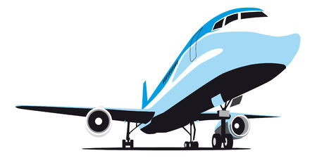 airplane mode: vectorial image of passenger airplane isolated on white background (EPS+CDR X3)