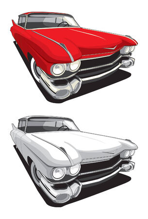 white car: vectorial image of retro car isolated on white background Illustration