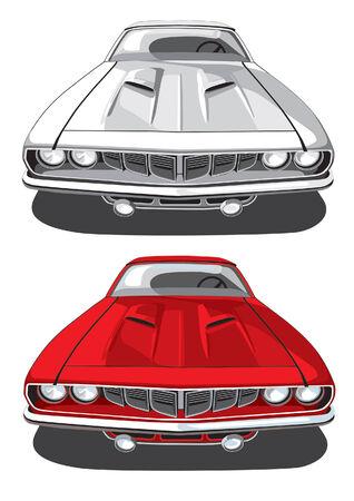 motorizado: imagen vectorial de autom�vil deportivo ejecutado en dos variantes de la antoci�nica