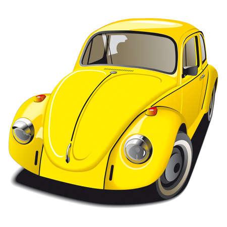 escarabajo: Old-fashioned coche Beetle