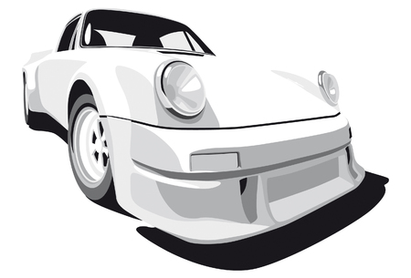 Vectorial image of Porsche 911 (1973 year) Stock Vector - 5747965