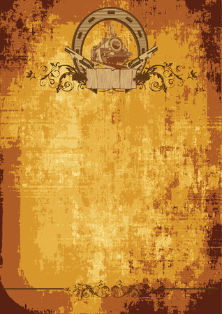 vintage background on a theme a wild west Vector