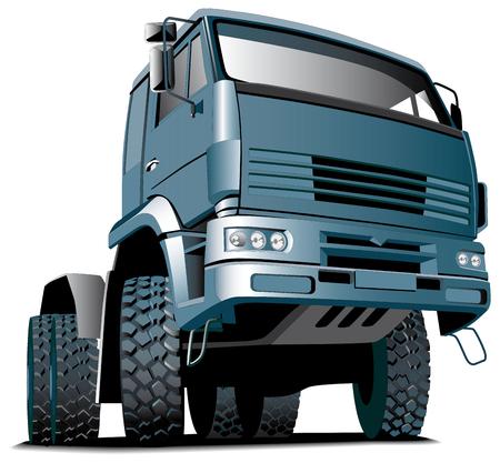 transporteur: Image vectorielles d�taill�e du camion isol�e sur fond blanc