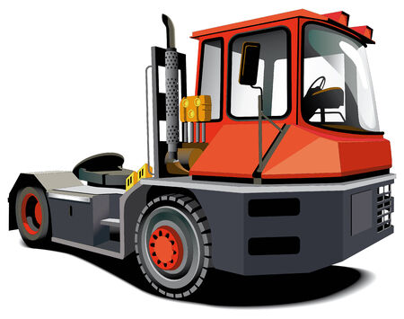 Detailed vectorial image of red haulage truck isolated on white background Stock Vector - 6010322