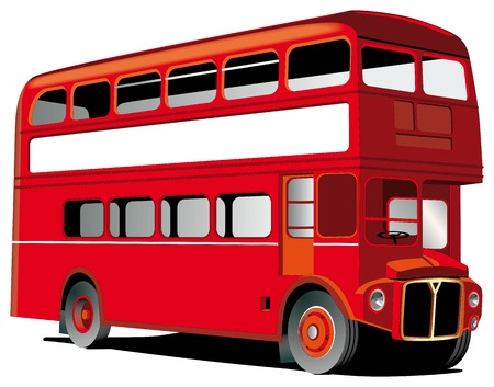 London double decker bus isolated on white with white frame for Your text Stock Vector - 6010323