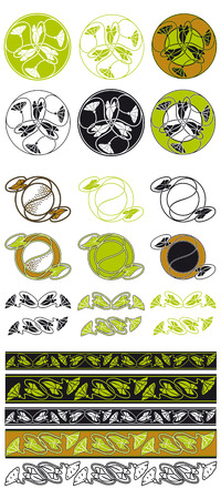 bindweed: Vector floral decorative elements with bindweed Illustration