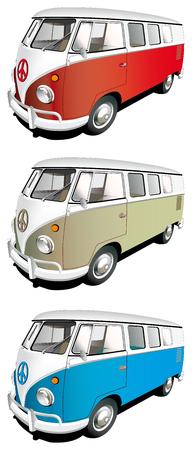 motorbus: Conjunto de icono vectorial de minib�s aislados sobre fondos blancos. Cada minib�s es en capas separadas. Archivo contiene degradados y fusiones.