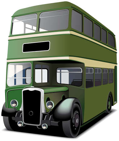 english famous: English double decker bus isolated on white. File contains gradients and blends gradient and blends.