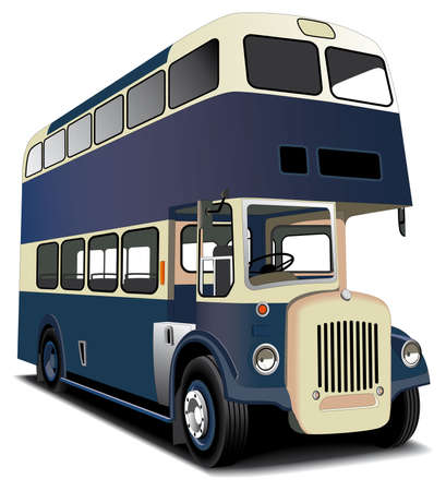 English double decker bus isolated on white. File contains gradients and blends gradient and blends. Vector