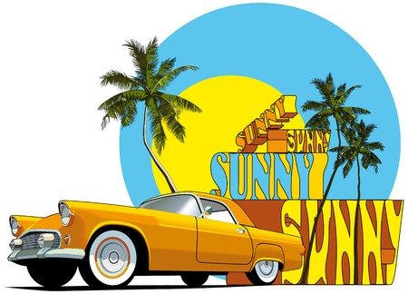 Vectorial composition on on the theme of summer.