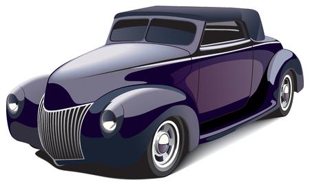 coche antiguo: imagen vectorial de negra coche smart, aislada en fondo blanco. El archivo contiene degradados y mezclas. No trazos. Vectores