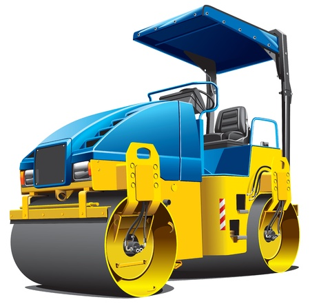 constructional: Detailed image of double roller, isolated on white background. File contains gradients. No strokes and blends.