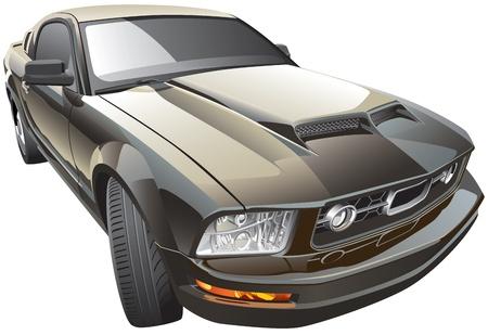 Detail beeld van de moderne sport auto, geïsoleerd op een witte achtergrond.