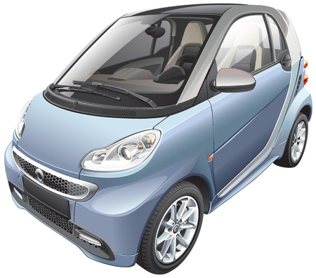 Detail image of modern subcompact car Vector