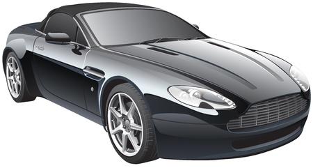 Gedetailleerd beeld van de elegante zwarte sport auto