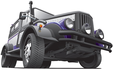 offroad car: Detailed image of diesel punk concept